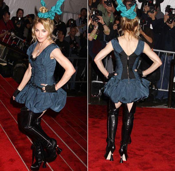 Madonnan hämmensi asullaan.