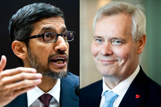 Googlen toimitusjohtaja Sundar Pichai saapuu perjantaina ensimmäistä kertaa Suomeen.