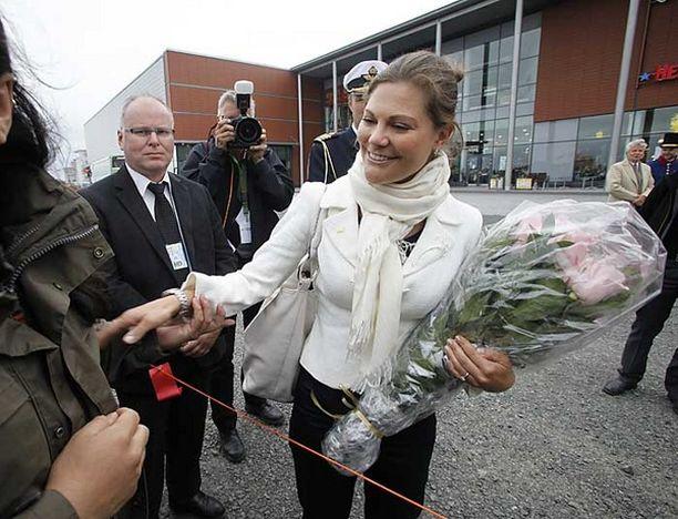 Ruotsin kruununprinsessa Victoria ihastutti Torniossa.
