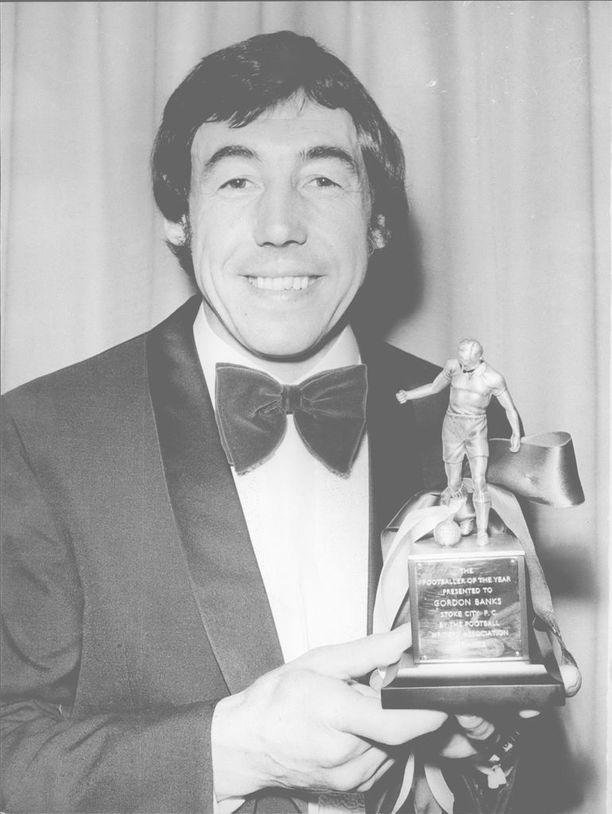 Gordon Banks valittiin Englannin parhaaksi jalkapalloilijaksi vuonna 1972.