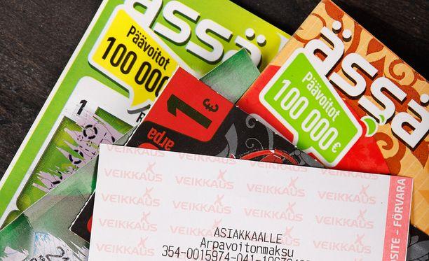 Viime vuonna lunastamatta jäi lähes 6 miljoonaa euroa Veikkauksen peleistä saatuja voittoja.