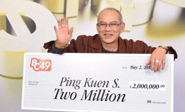 Kanadan BC/49 -lotossa arvotaan kuusi numeroa. Ping Kuen Shum sai kaikki oikein.