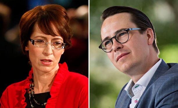 HS:n mukaan kokoomuksen voisivat korvata Sari Essayahin johtama kristillisdemokraatit ja Carl Haglundin johtama RKP.
