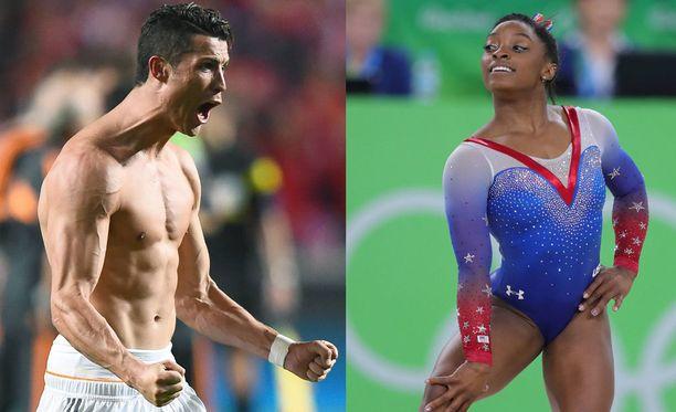 Cristiano Ronaldo ja Simone Biles ovat omissa lajeissaan yksiä historian parhaimmista.
