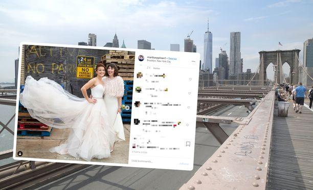 Karppinen avioitui Brooklynissa.