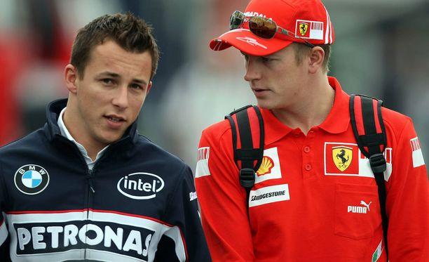 Christian Klien ja Kimi Räikkönen tuntevat toisensa pitkältä ajalta.