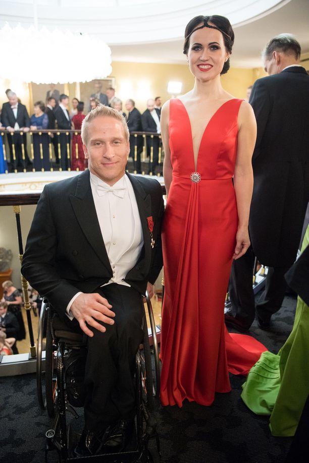 Leo-Pekka ja Sandra Tähti edustivat Linnan juhlissa yhdessä vielä viime vuonna.