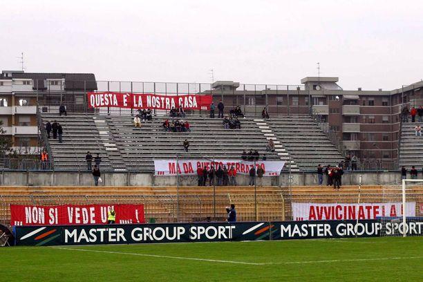 Piacenzan kaupungin jalkapalloylpeydellä menee kehnosti. Arkistokuva.