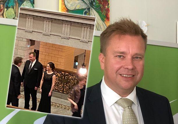 Antti Kaikkonen esitteli virallisessa tilaisuudessa ensi kertaa uuden rakkaansa.
