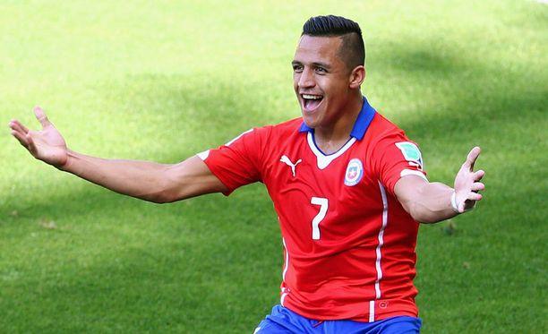 Alexis Sanchez iski Chilen tasoihin.