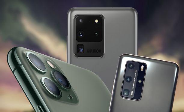 Teknologiajulkaisut listasivat puhelimien parhaat kamerat.