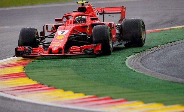 Kimi Räikkönen joutui keskeyttämään.