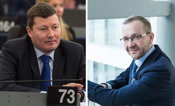 Kabinettipäälliköt Martin Selmayr (vas.) ja Juho Romakkaniemi eivät tule toimeen keskenään.