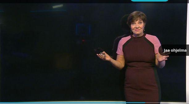 Meteorologi Anne Borgström joutui torstai-iltana kiusalliseen tilanteeseen, kun sääkarttojen näytön tekniikka petti illan uutislähetyksessä.