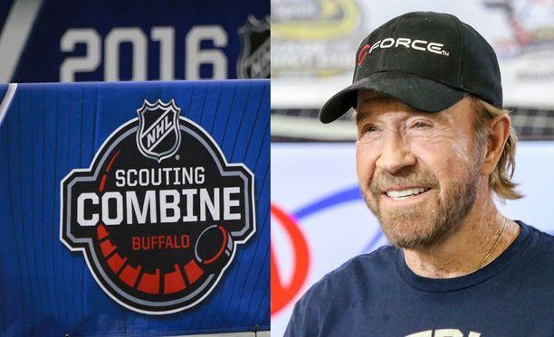 Onko Chuck Norrisin (oik.) perillinen noussut esiin NHL:n kuntotesteissä?