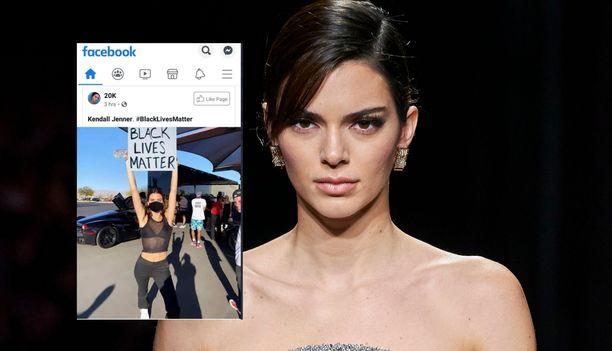 Netissä levinnyt kuva Kendall Jenneristä on paljastunut muokatuksi.