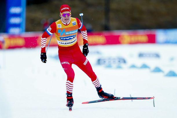 Aleksander Bolshunov voitti Lillehammerissa vuonna 2019.