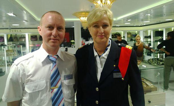 Milla Ahlqvist ja Tero Nykänen tapasivat laivalla