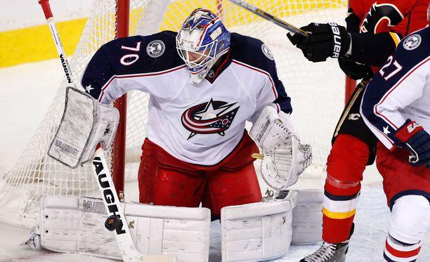 Joonas Korpisalo on lyömässä läpi NHL:ssä.