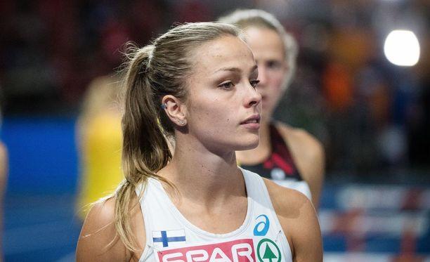 Maria Huntingtonilla oli vaikea toinen päivä seitsenottelussa.