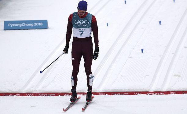 Aleksandr Bolshunov jäi 50 kilometrillä olympiahopealle.
