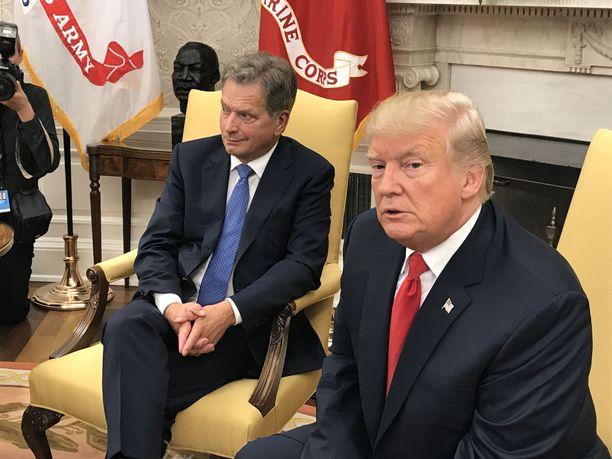 Presidentti Niinistö tapasi presidentti Trumpin myös elokuussa 2017 Valkoisessa talossa.