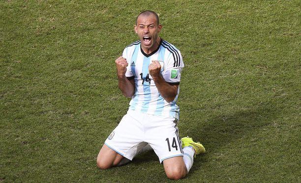Javier Mascherano on pelannut loistavat MM-kisat.