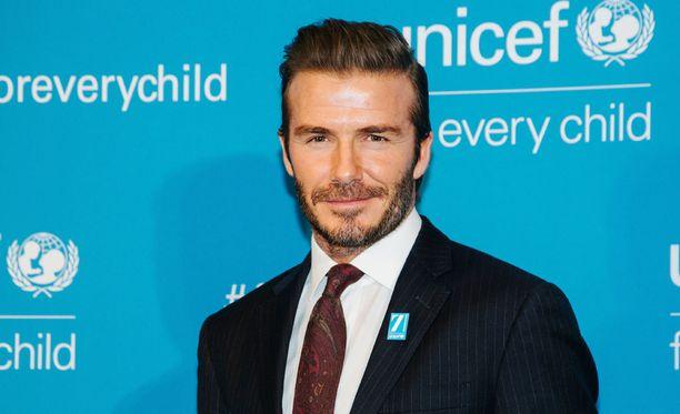 David Beckham on tuttu näky Unicefin tapahtumissa.