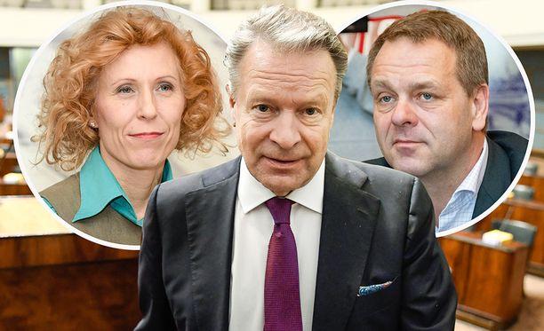 Susanna Rahkama (vas.), Ilkka Kanerva ja Jan Vapaavuori ovat ehdolla Olympiakomitean puheenjohtajaksi. Myös Sari Multala on mukana vaalissa, mutta IL:n gallupin perusteella hänen mahdollisuutensa on olematon.