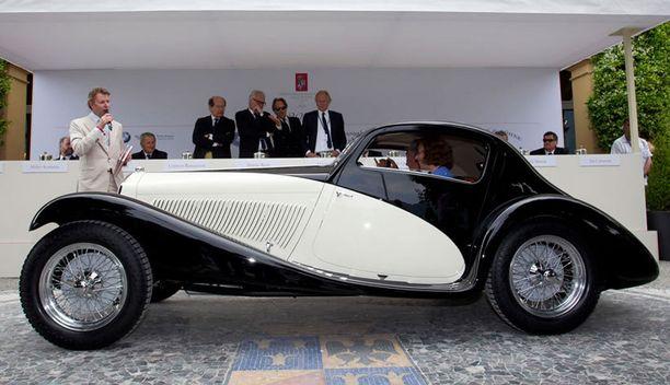 Harvinainen tämäkin – vuoden 1933 Alfa Romeo 6C 1750 Gran Sport Figoni Coupé.
