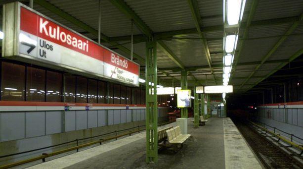 Kulosaaren metroasema koki samantyylistä ilkivaltaa viime vuonna.