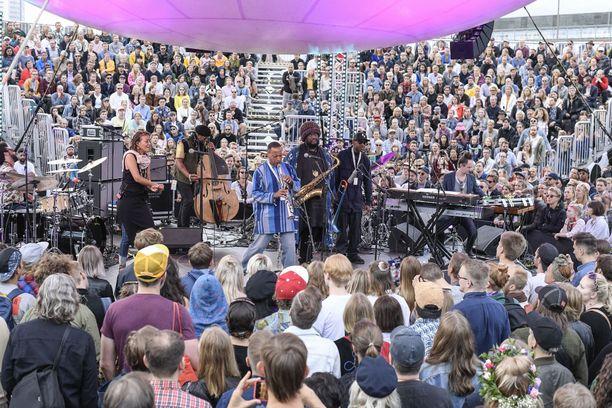 Jazz-suuruus Kamasi Washington elokuun 2018 Flow'ssa.