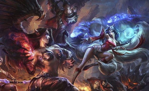 League of Legendsissä kaksi joukkuetta kamppailee vastakkain.
