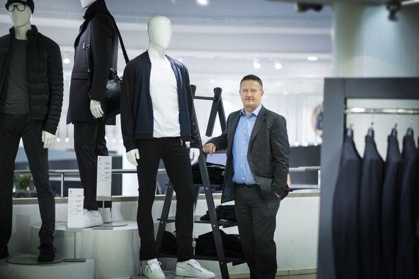 Stockmannin silloin tuore toimitusjohtaja Lauri Veijalainen kuvattuna syyskuussa 2016.