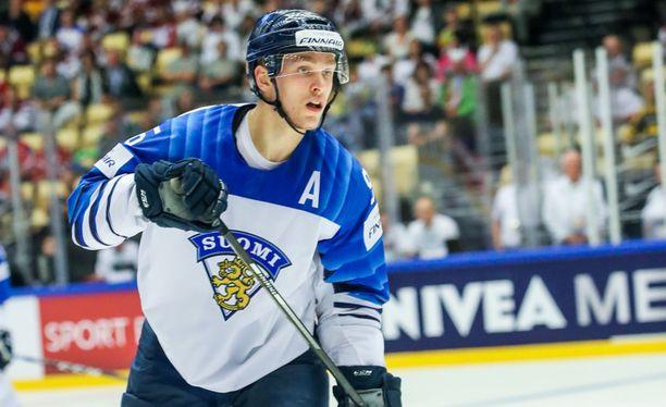 Mikko Rantanen on edustanut Suomea MM-kisoissa kolmena viime keväänä.
