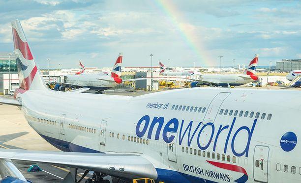 Lontoon Heathrow oli viime vuonna Euroopan vilkkain lentokenttä.