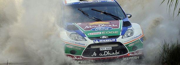 Mikko Hirvonen ajoi ek14:llä kärkiajan.