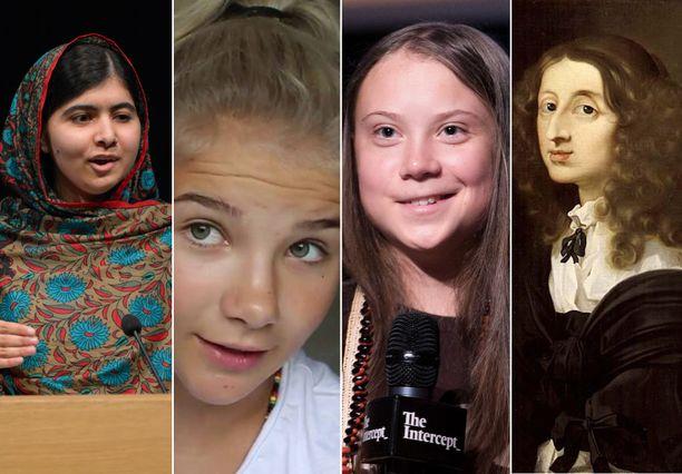 Malala Yousafzai, Pinkku Pinsku, Greta Thunberg ja kuningatar Kristiina kuuluvat kuuluisien tyttöjen joukkoon.