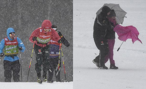Myrksy raivosi Tour de Skillä keskiviikkona.