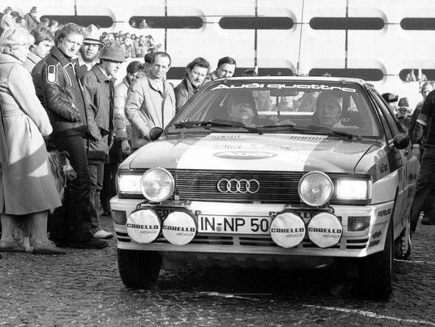 Hannu Mikkola Audin ratissa vuonna 1981.