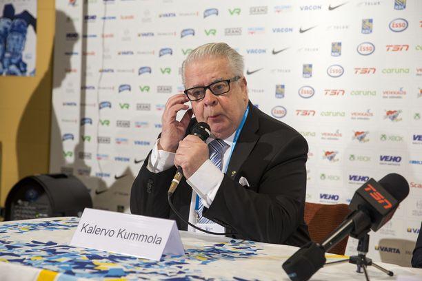 Kalervo Kummola on IIHF:n hallituksen varapuheenjohtaja. Kuva vuodelta 2016.