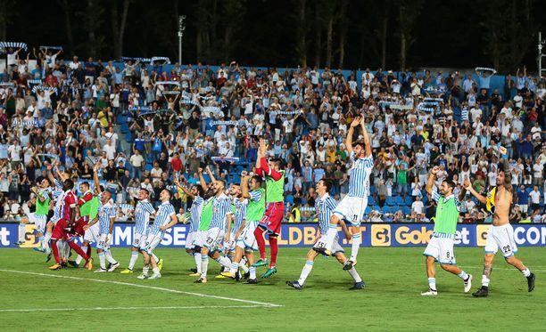 Spal juhli sunnuntaina ensimmäistä Serie A -voittoaan 49 vuoteen.