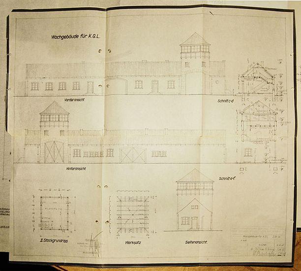 Piirroksia uskotaan käytetyn Auschwitzin laajennustöissä vuonna 1941.