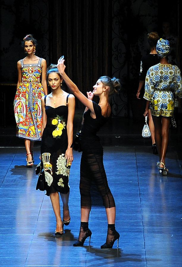 Dolce & Gabbanan Italia-iloittelu jäi mieleen.