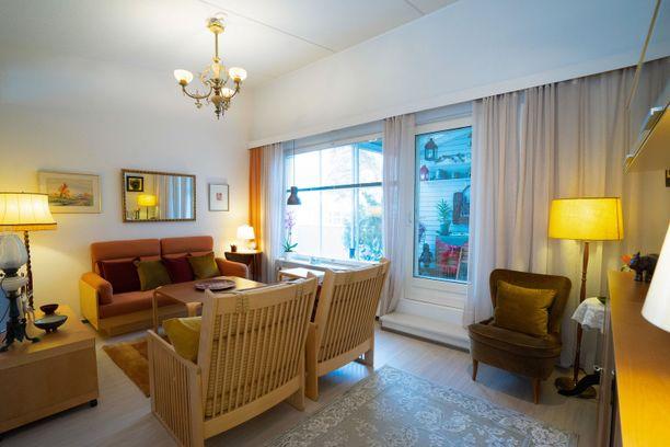 Kuvassa Hyvinkään kodin olohuone. Asunnossa on 88 neliötä.