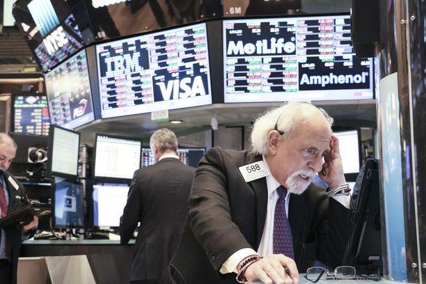 New Yorkin pörssissä oli musta perjantai ja vielä mustempi maanantai.