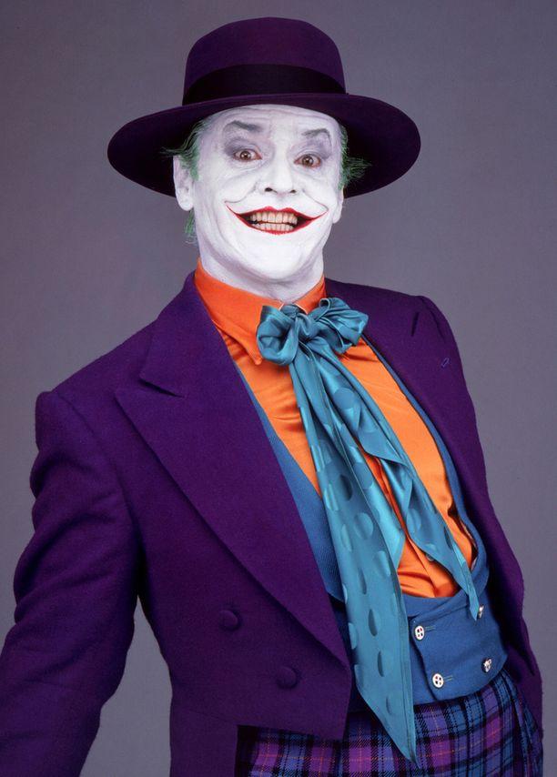 Jack Nicholson nähtiin Batman-elokuvan Jokerina vuonna 1989.