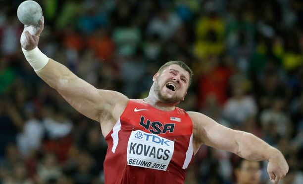 Joe Kovacs piti pintansa kuulafinaalissa.