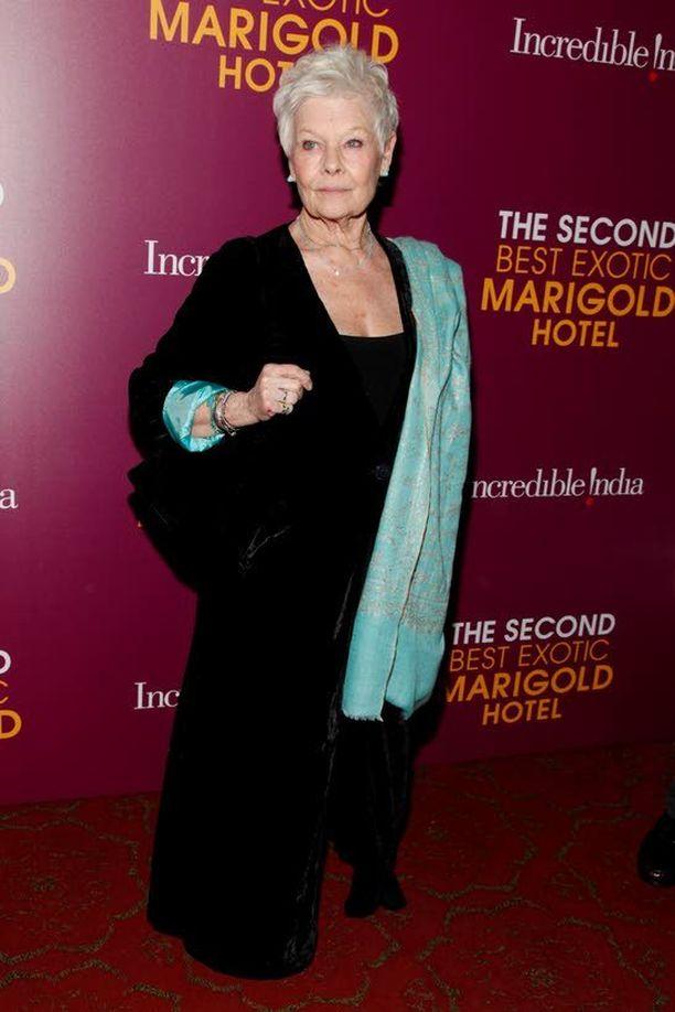 Dame Judi on yksi pääosanäyttelijöistä elokuvassa The Second Best Exotic Marigold Hotel, joka sai ensi-iltansa 27. maaliskuuta.