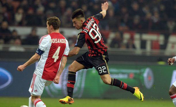 Niklas Moisanderin ja Ajaxin tie tyssäsi Milania vastaan.